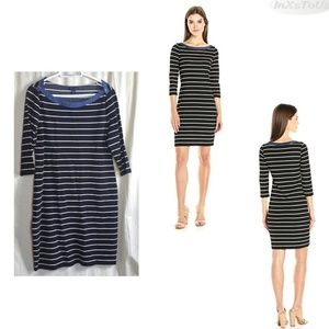 Tommy Hilfiger Women's Cotton Striped Sheath Dress